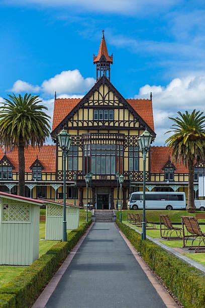 Alten historischen Gebäude in Rotorua – Foto