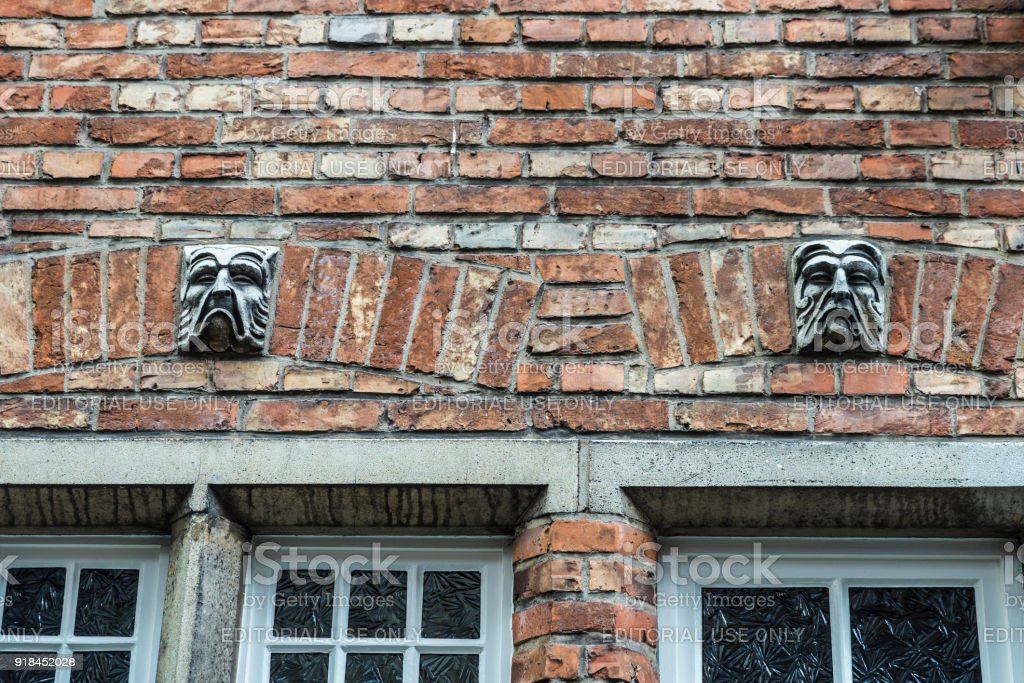 Old historic building in the medieval city of Bruges, Belgium stock photo