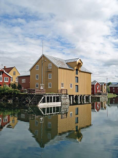 Old historic house Mosjoen Norway stock photo