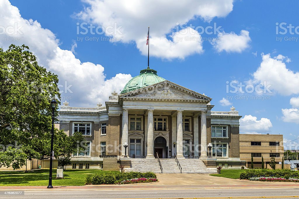 old historic office of calcasieu parish district attorney stock photo