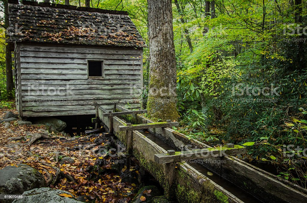 Old Historic Tennessee Mill stock photo