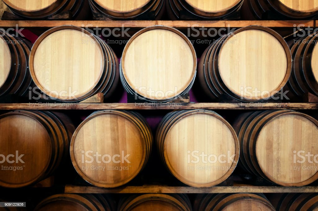 Old historic wine cellar in Langhe (Italy) - foto stock