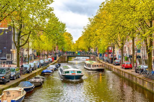 oude historische amsterdam - keizersgracht stockfoto's en -beelden