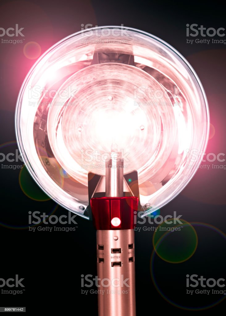 Beverly Hills, CA, USA - May 21, 2011: Old Hollywood Flashbulb stock photo