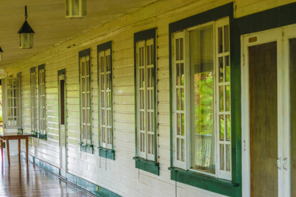 old home color image - baguio city stock photos and pictures