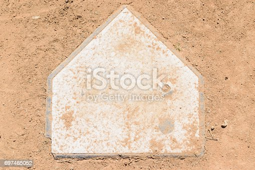 istock Old home plate 697465052