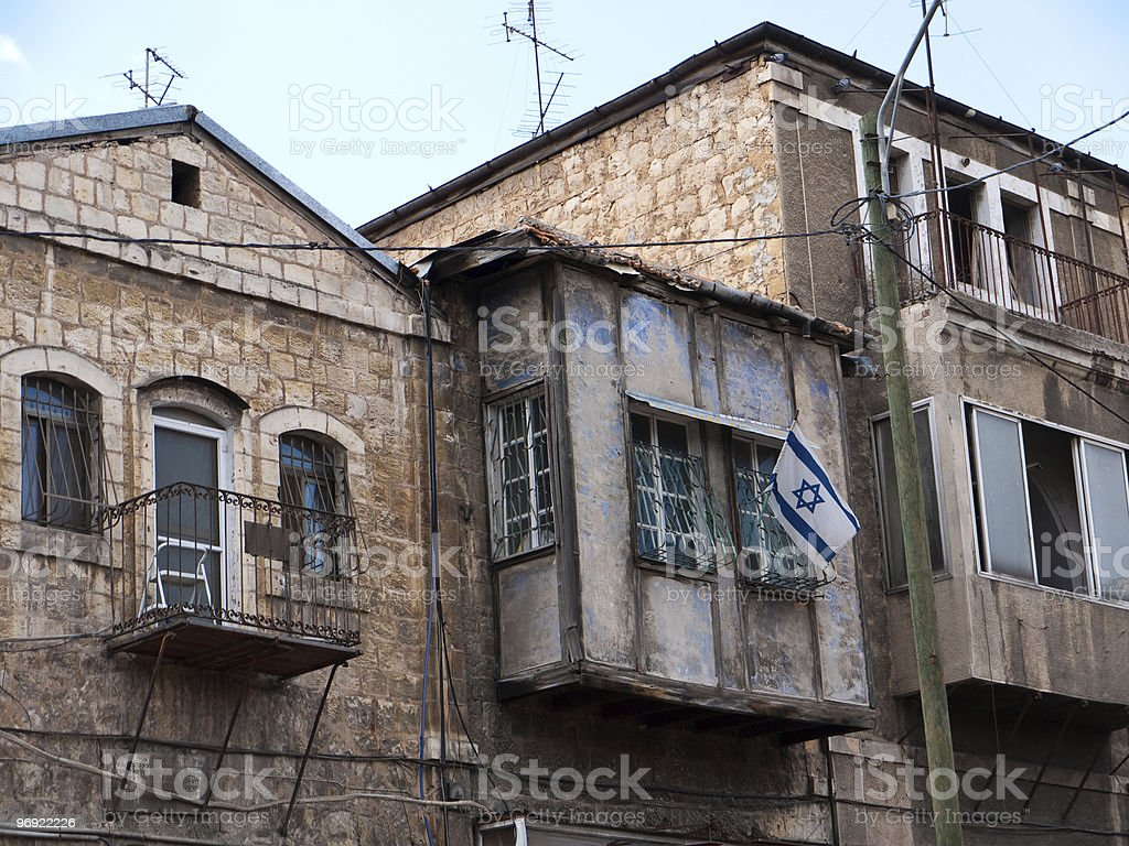 Old homes in Jerusaelm Israel royalty-free stock photo