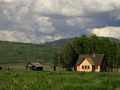 An old homestead in the state of Wyoming.