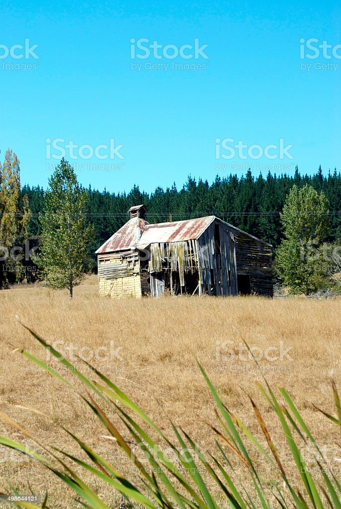 Old Hop Kiln, Moutere, New Zealand royalty-free stock photo