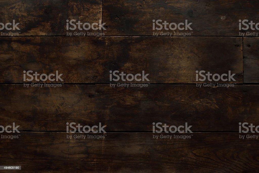 Old Horizontal Wood Floor stock photo