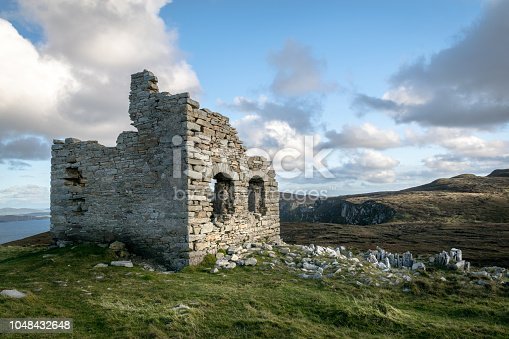 This is the ruins of the old lookout at Horn Head in Donegal Ireland
