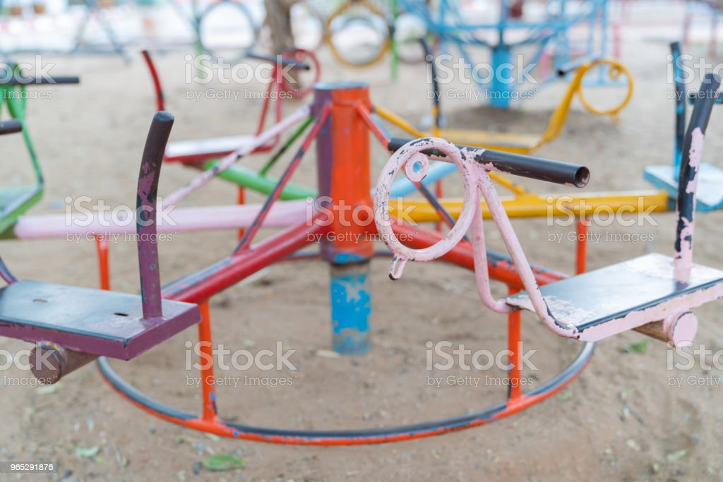 Old horse carousel. royalty-free stock photo