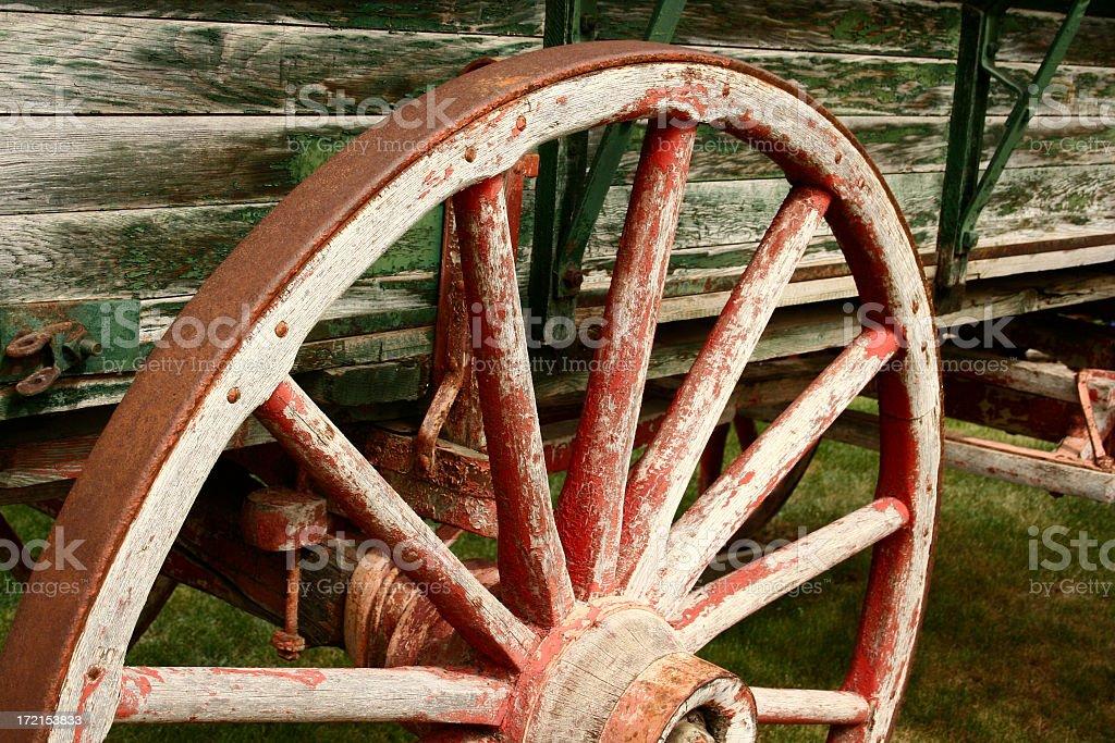 Old horse wagon stock photo