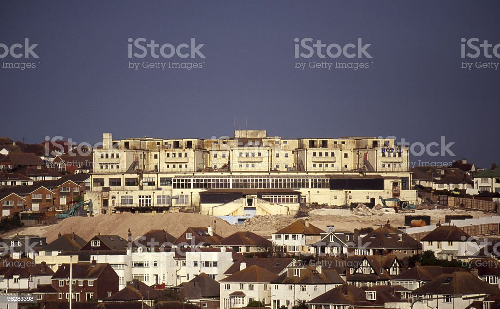 Old Hotel at Saltdean, East Susseex, England royalty-free stock photo