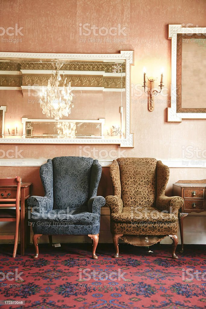 old hotel living room royalty-free stock photo