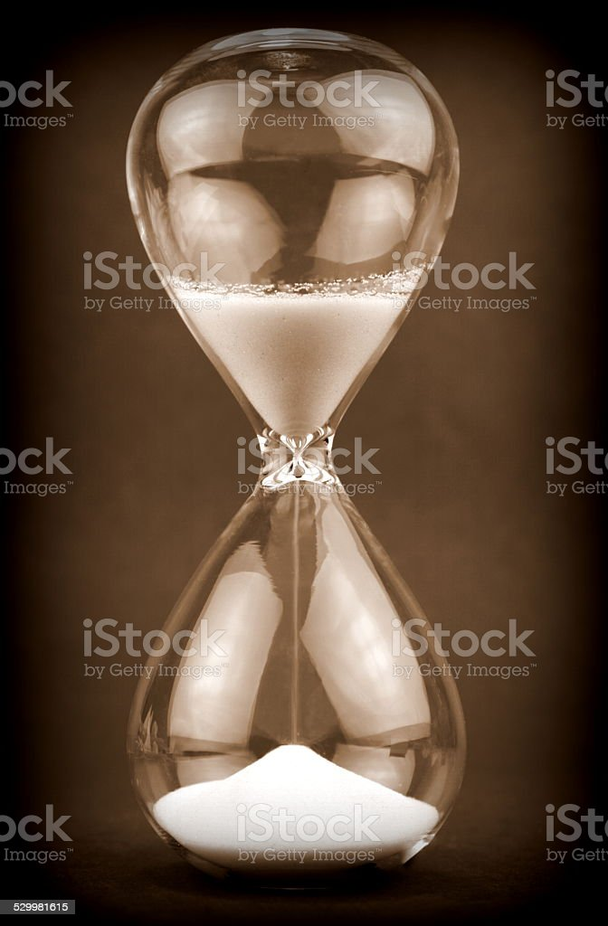 Old Hourglass stock photo