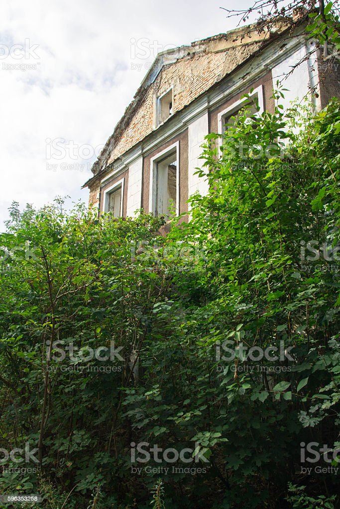 Old house. Abandoned . royalty-free stock photo