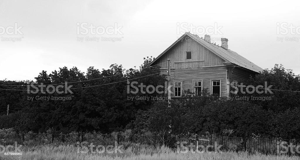 old house abandoned stock photo