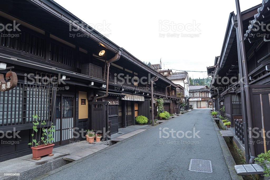 Old house at Takayama historical town in Japan stock photo