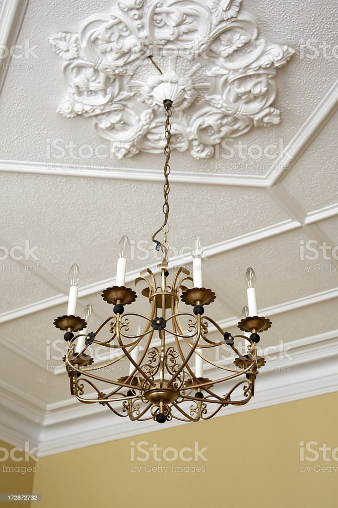 Old house chandelier royalty-free stock photo