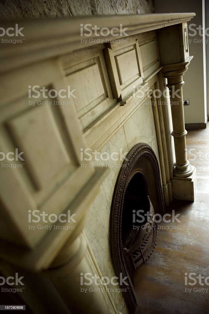 Old house fireplace royalty-free stock photo