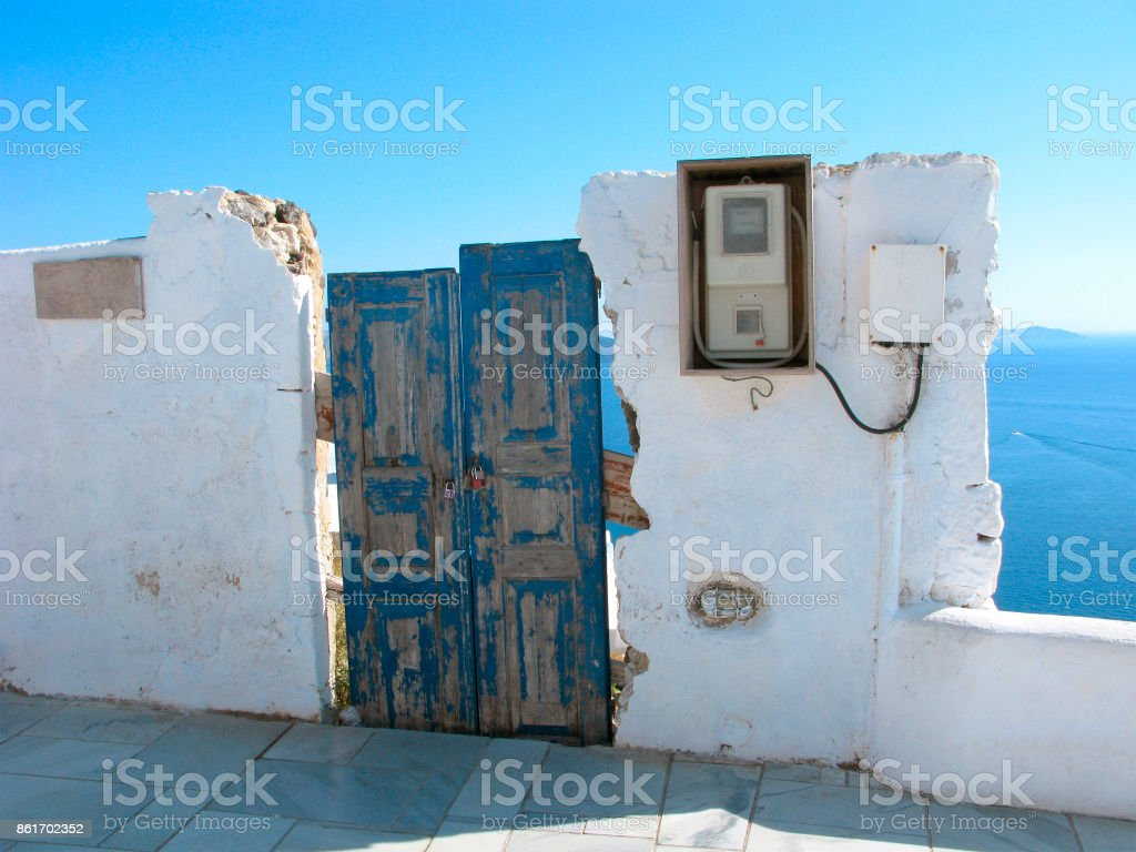 Old House Greece Santorini Stock Photo 861702352 Istock Electrical Wiring Royalty Free