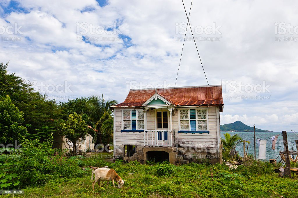 Old House, Grenada W.I. stock photo