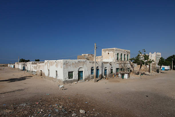 old house in berbera, somaliland - somalia stock photos and pictures