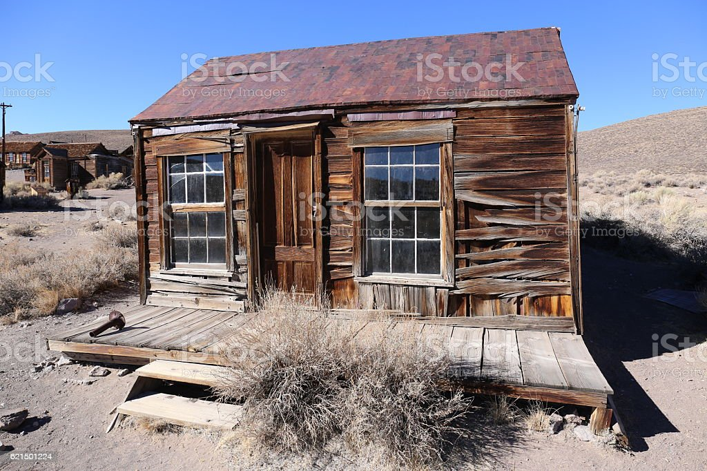 Old house in Bodie State historic Park, California, America foto stock royalty-free