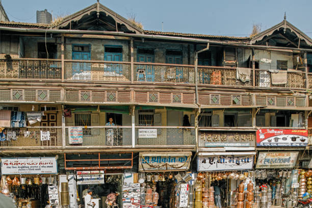 Old House in copper and brass utensil market of budhwar peth-Pune