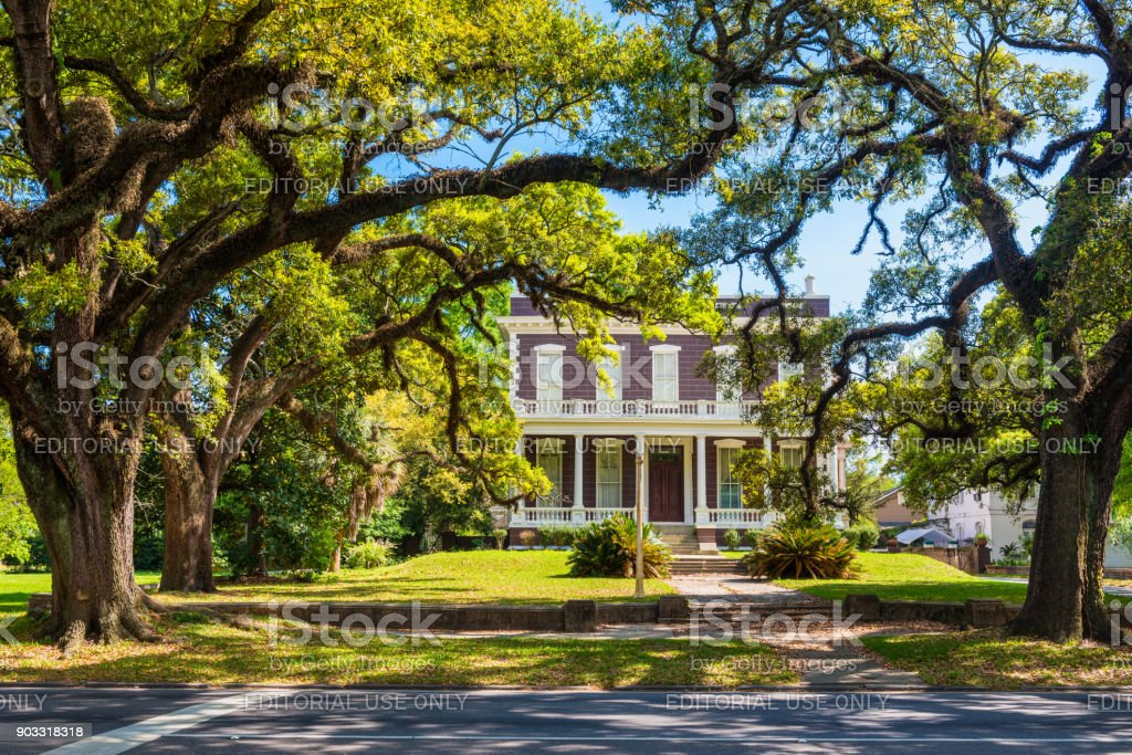 Old House in Downtown Mobile Alabama USA stock photo