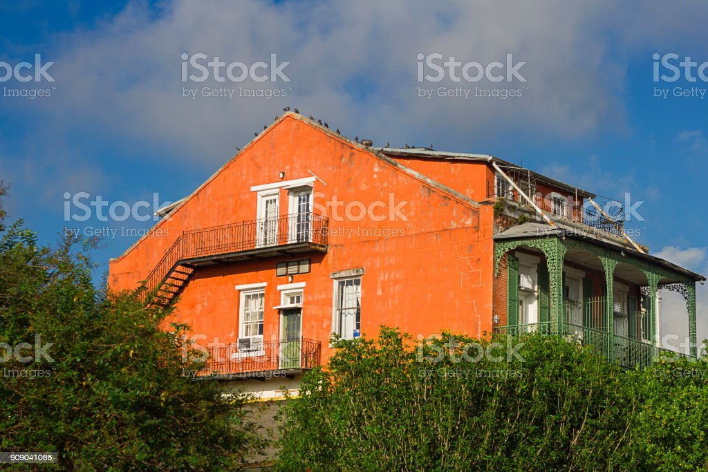 Old house in New Orleans stock photo