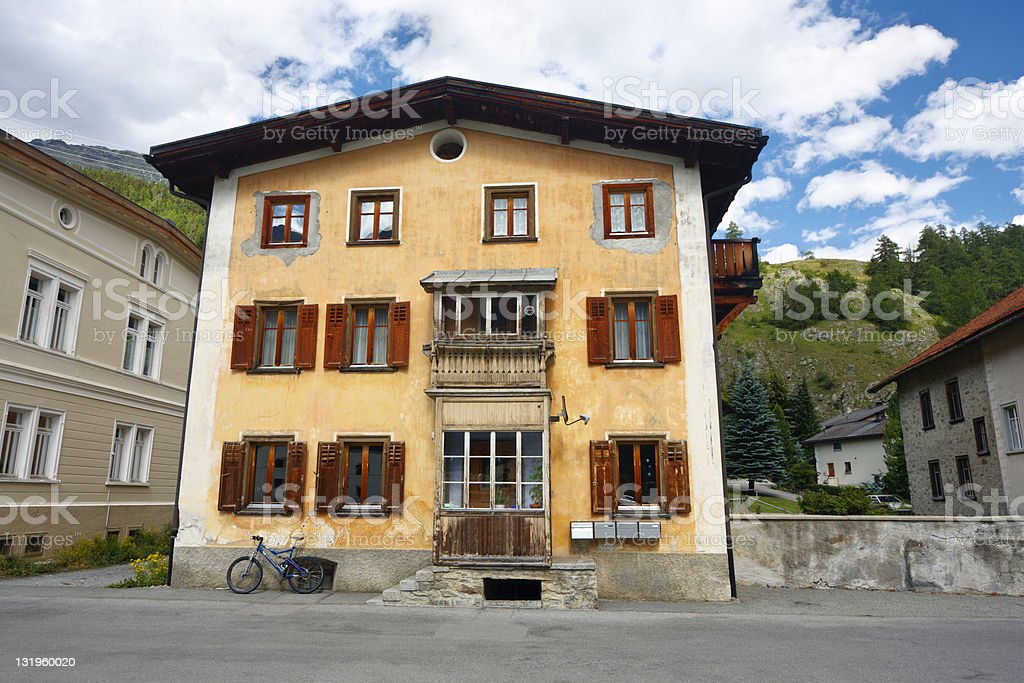 Old House In The Alps royalty-free stock photo