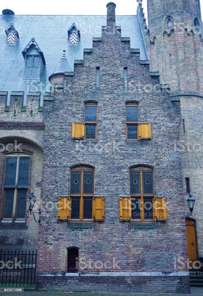 Old house in the Binnenhof stock photo
