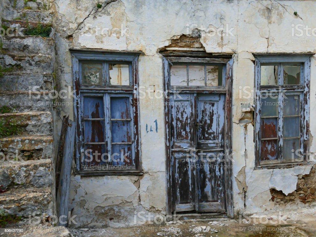 Escalier Dans Maison Ancienne photo libre de droit de maison ancienne À vólax Île de tinos