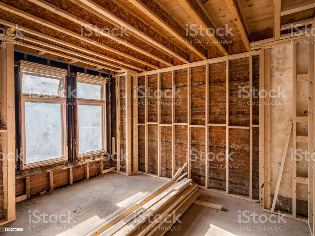 Old House Interior Renovation stock photo