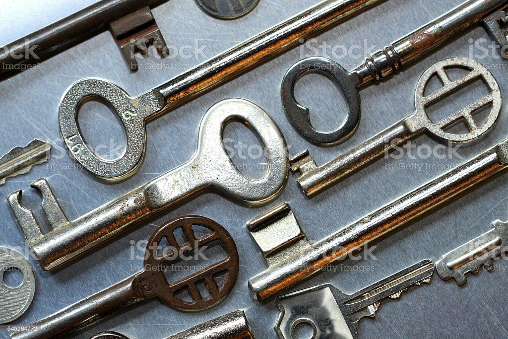 Old house keys stock photo