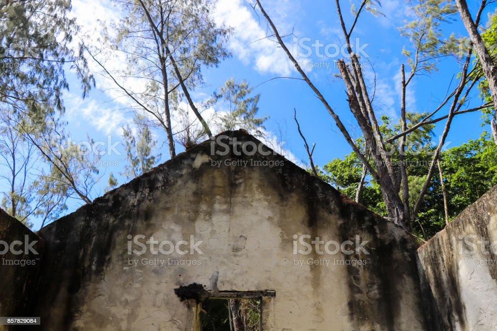 Old House Near Caiman Beach At La Digue Island Seychelles