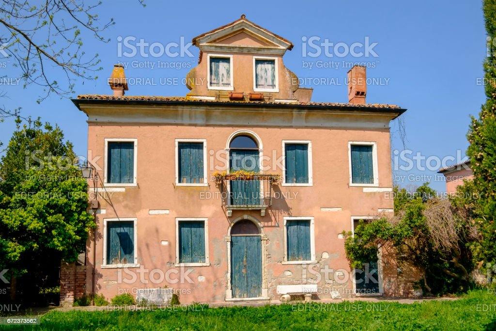 Old House of Torcello, Venice, Italy stock photo