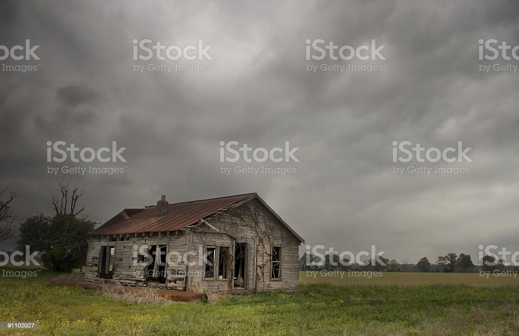 Old House on Gloomy Day royalty-free stock photo