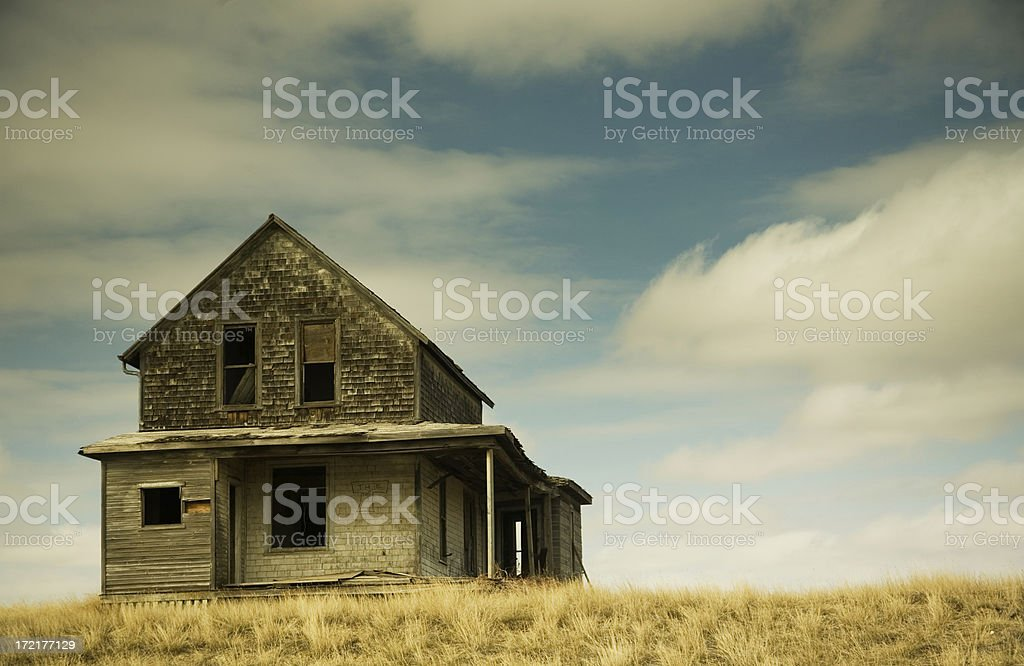 old house on hill royalty-free stock photo