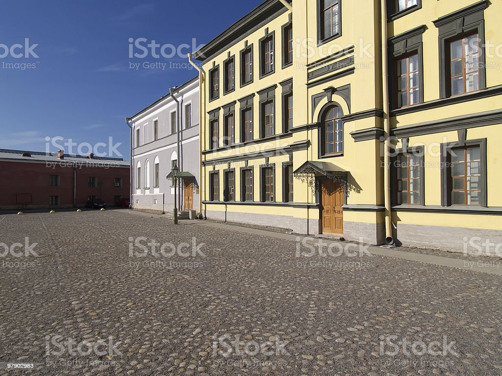 Old house on square royalty-free stock photo