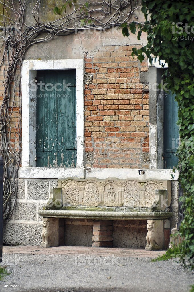 Old House on Torcello island in Venice, Italy stock photo