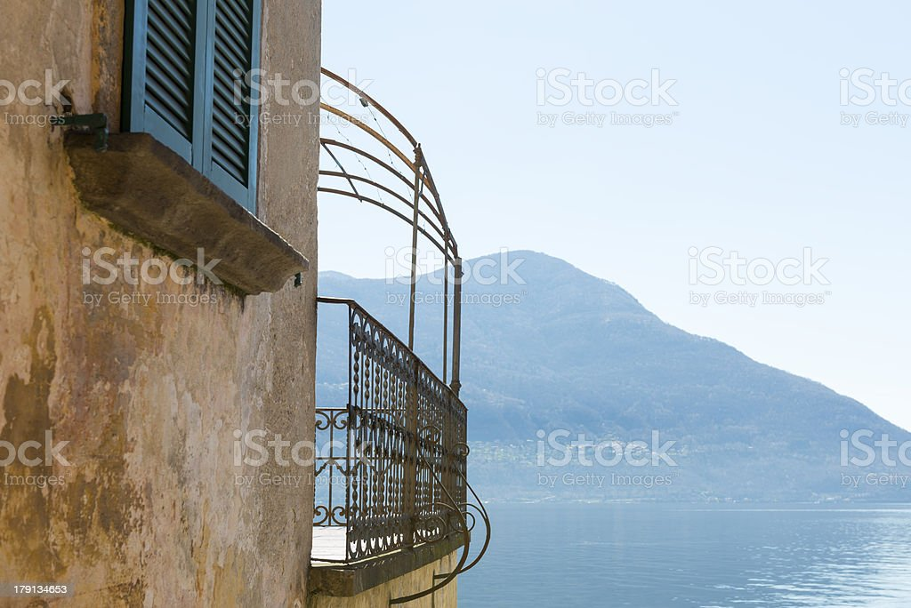 Old house with lake view royalty-free stock photo