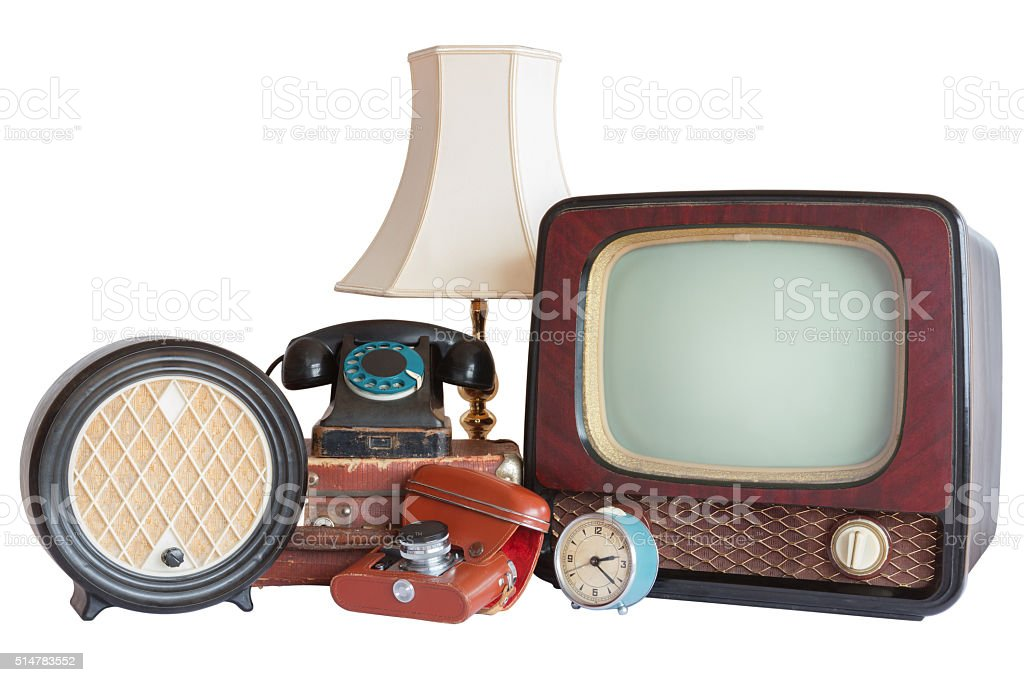 Old household items stock photo