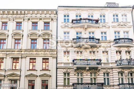 istock old houses and blue sky in Berlin Kreuzberg 536675090