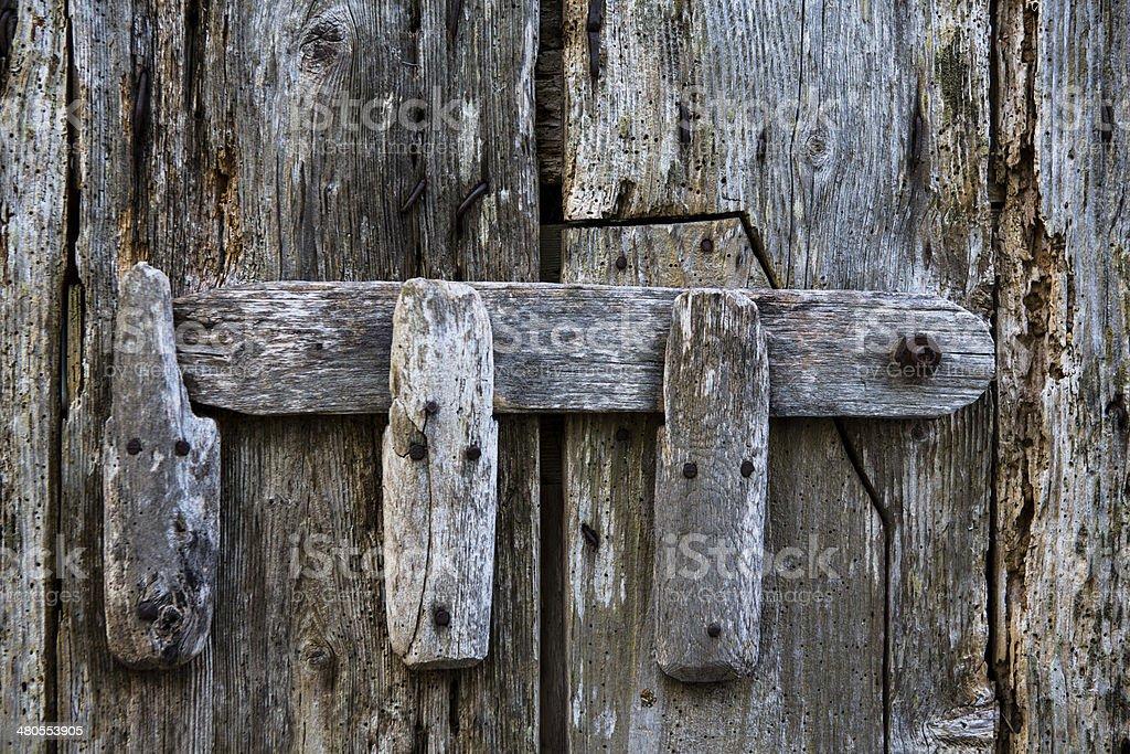Old house's door stock photo