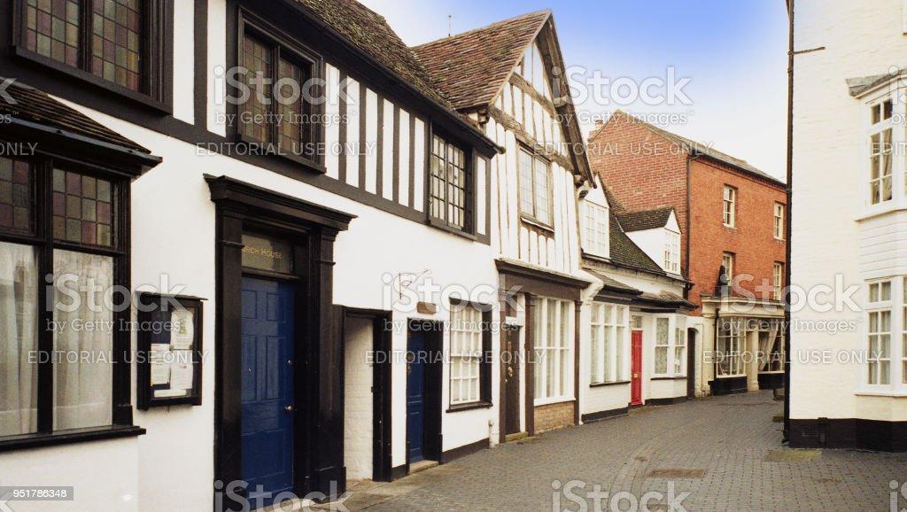 Old Houses England Uk Heritage History Stock Photo