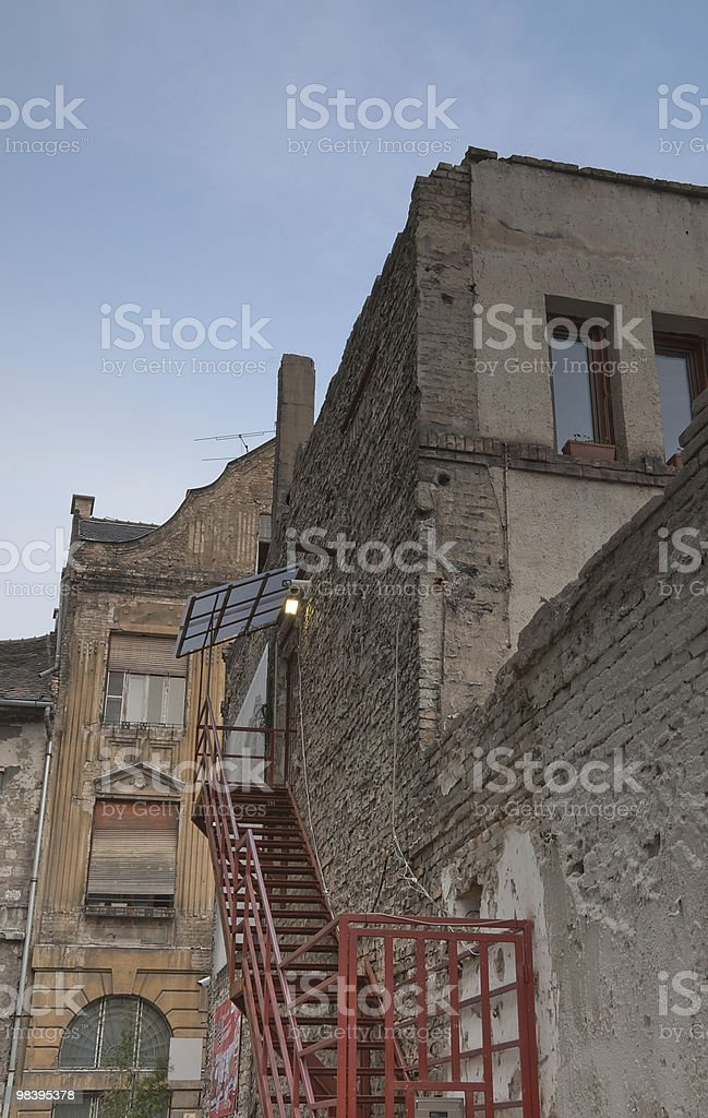 Old house's facade in HDR royalty-free stock photo