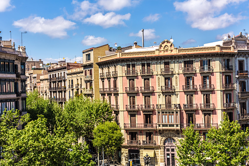 Old houses in Barcelona